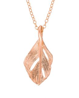 I Can Fly Midi Swan Feather Necklace Rose Gold