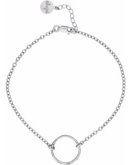Hawthorn Twig Infinity Bracelet Silver
