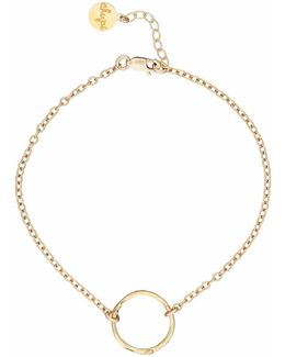 Hawthorn Twig Infinity Bracelet In Gold