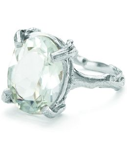 Beauty In The Wild Ring In Prasiolite And Silver