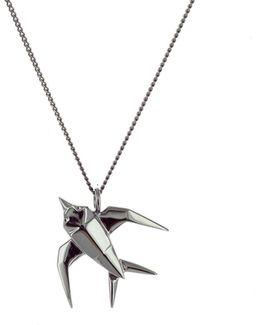 Mini Swallow Necklace Gun Metal
