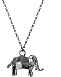 Mini Elephant Necklace Gun Metal