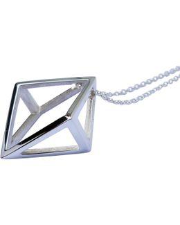 Silver Symmetrical Kite Pendant