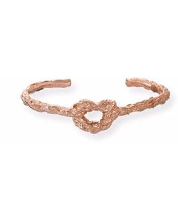 Forget Me Knot Bangle In Rose Gold