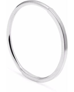 Silver Square & Round Skinny Stacking Ring