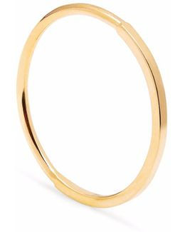 Gold Square & 50 Round Skinny Stacking Ring