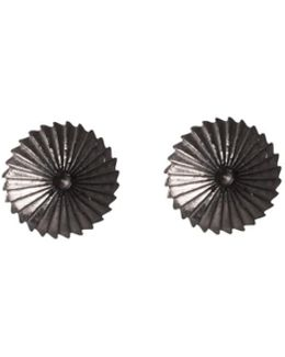 Spiral Burr Earrings Black