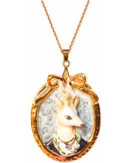 Prince Ambrose Deer Portrait Pendant Necklace