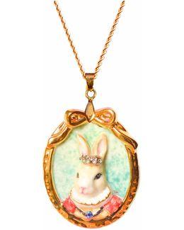 Princess Butterscotch Rabbit Portrait Pendant Necklace