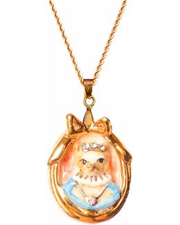 Countess Naia Cat Portrait Pendant Necklace