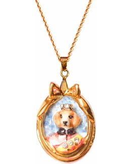 Little Lord Crispin Dog Portrait Pendant Necklace