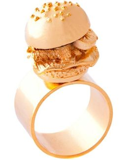 The Burger Ring 18ct Gold