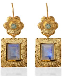 Hayami Moonstone Earrings