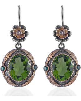 Orisha Peridot & Diamond Earrings