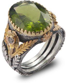 Orisha Peridot & Diamond Ring