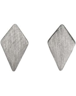 Ruit Stud Earrings Oxidized Silver