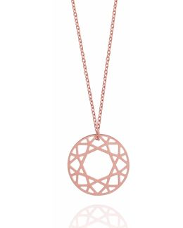 Rose Gold Small Brilliant Diamond Necklace