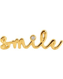 Smile Diamond Single Slider Earring Left Ear