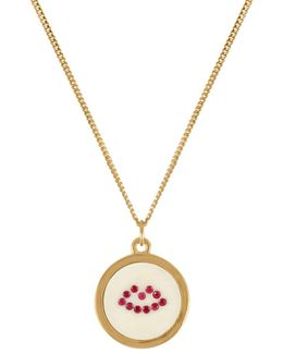 Ruby Lip Pendant Necklace