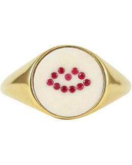 Ruby Lip Signet Ring
