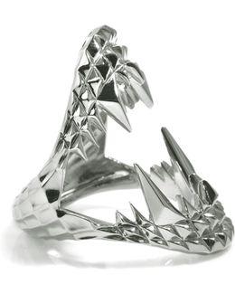 Vampire Bite Ring Silver