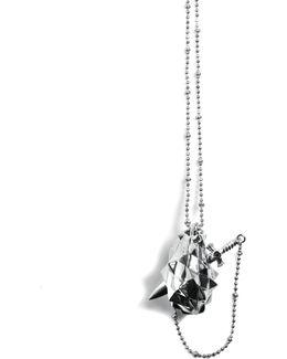 Vampire Heart Pendant Silver
