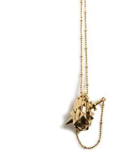 Vampire Heart Pendant Gold