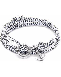 White Noir Clyde Silver & Rope Bracelet