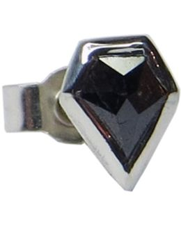 Black Diamond Shield Stud