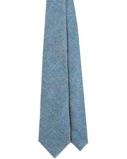 Turquoise Tweed & Liberty Paisley Print Tie