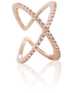 Across The World Cocktail Ring In Rose Gold