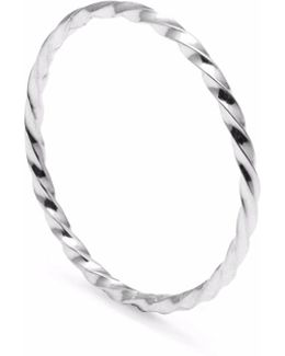 Silver Skinny Twist Stacking Ring