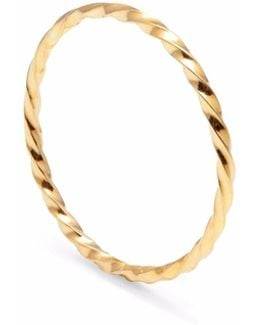 Gold Skinny Twist Stacking Ring