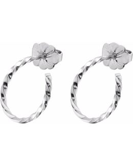 Silver Mini Twist Hoop Earrings