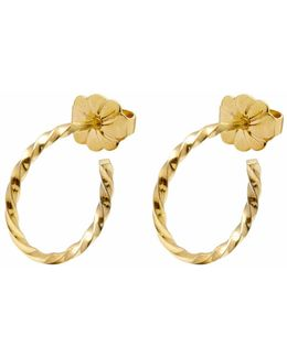 Gold Mini Twist Hoop Earrings