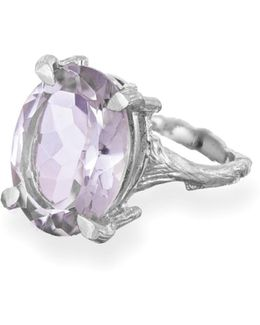 Beauty In The Wild Ring In Amethyst & Silver