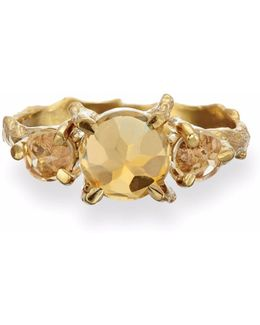 Tiny Twinkle In The Wild Citrine Ring In Gold