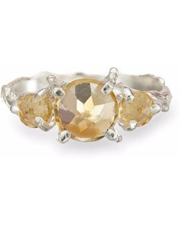 Tiny Twinkle In The Wild Citrine Ring In Silver