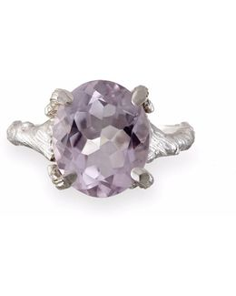 Drop In The Wild Amethyst Ring In Silver