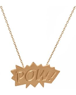 Pow Pendant Medium In Gold
