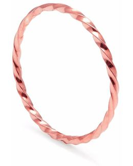 Rose Gold Skinny Twist Stacking Ring