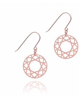 Rose Gold Brilliant Diamond Drop Earring