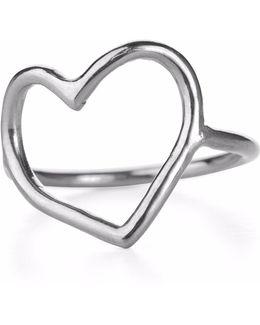 My Heart Is Open Ring Silver