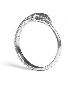 Ouroboros Snake Ring Silver