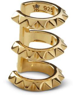 Croc Triple Ear Cuff Yellow Gold