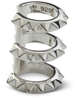 Croc Triple Ear Cuff Silver