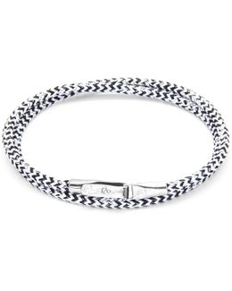 White Noir Liverpool Silver & Rope Bracelet