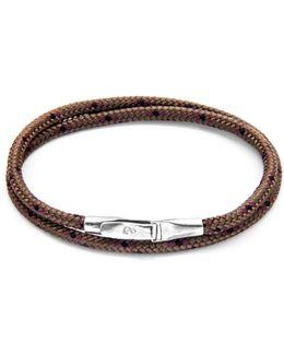 Light Brown Liverpool Silver & Leather Bracelet