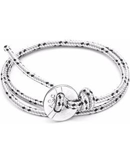 Grey Dash Lerwick Silver & Rope Bracelet