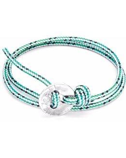 Green Dash Lerwick Silver & Rope Bracelet